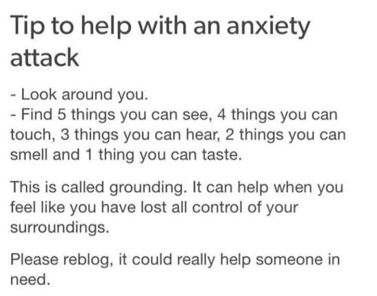How can I calm down during a panic attack?