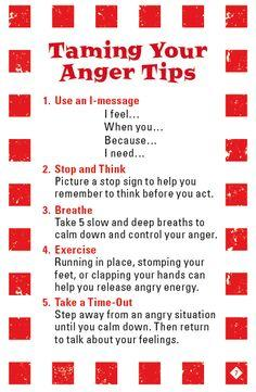 How can I stop being angry?