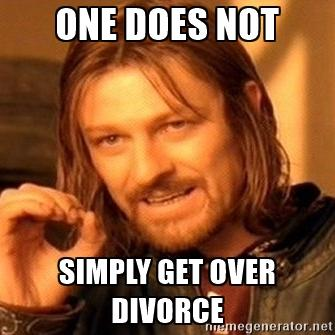 I can't get over my divorce. What should I do?