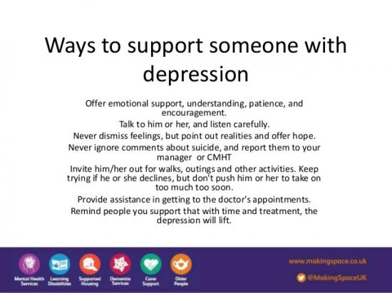 What to say to someone who is depressed?